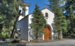 The High Alpine Chapel at Boehms candies can be rented for events